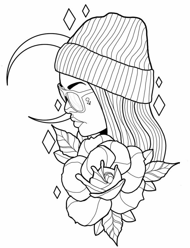 28++ Aesthetic coloring pages people trends