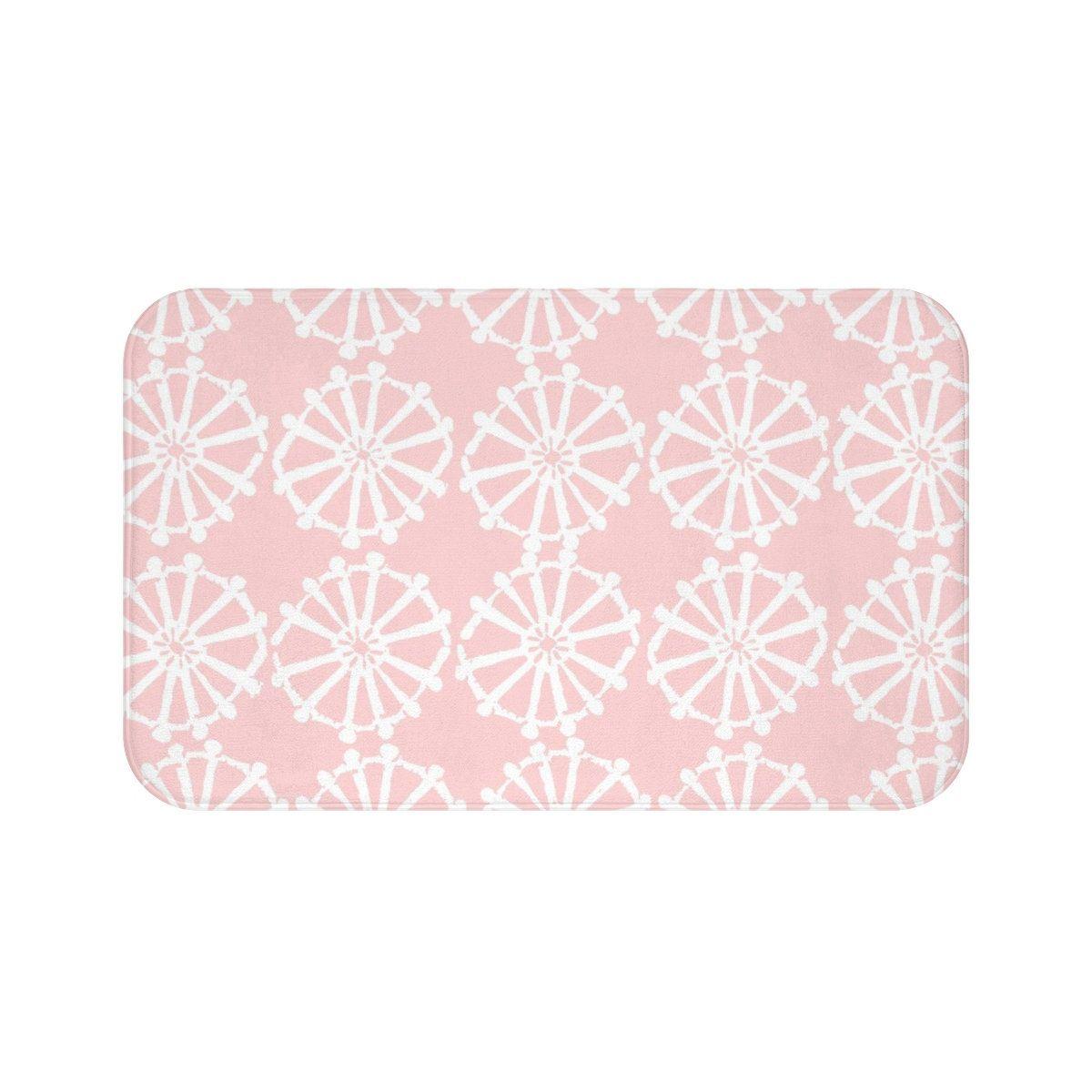 Blush Bath Mat Blush Pink And White Bath Mat Wheel Bathroom