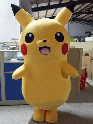 Pokemon Go Pikachu Mascot adult Costume Fancy Dress Cosplay New Year