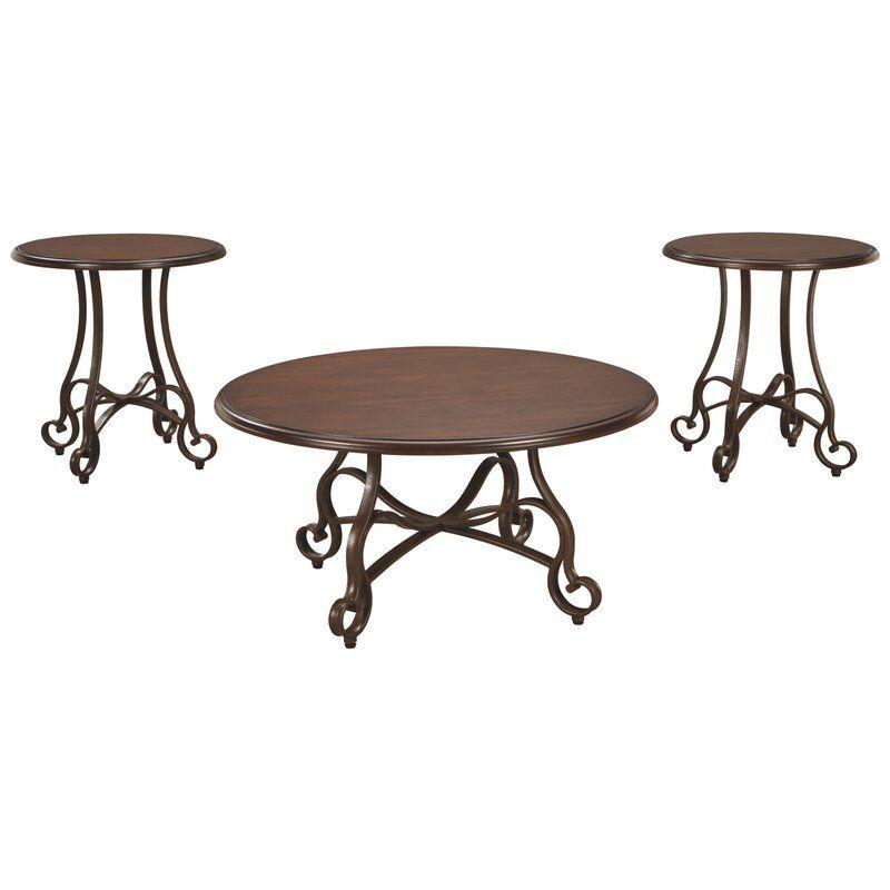 Kempner 3 Piece Coffee Table Set, Bates Furniture Company Dalton Ga