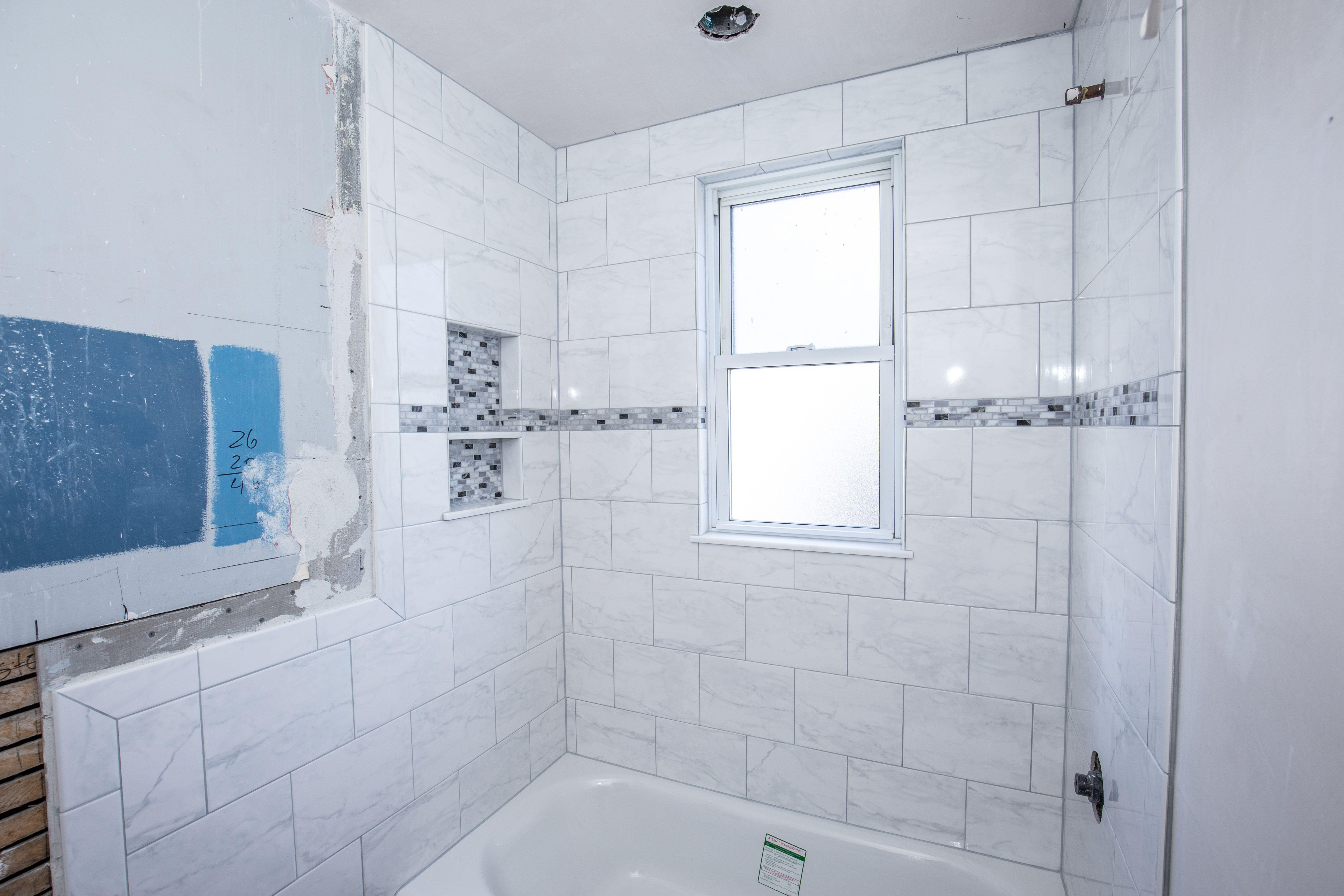 American Olean Mooreland Carrara White Glazed Tile Datile Stone ...