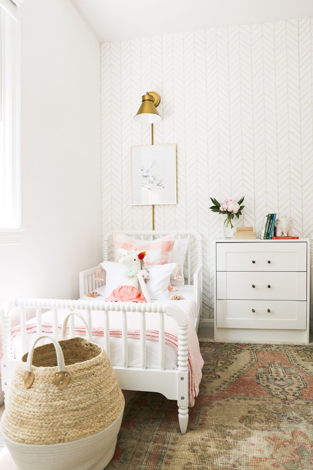 A Pretty In Pink Big Girl Bedroom Shared Girls Room Big Kids