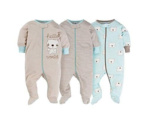 d6756e47fc Gerber Onesies Baby Boy Sleep N Play Sleepers 3 Pack (6-9 Months ...