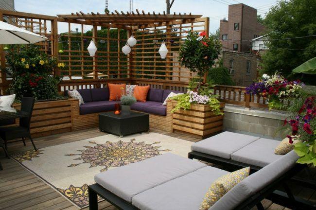 Terrassen-Ideen - 96 schön gestaltete Garten \ Dachterrassen - terrassen ideen garten dachterrassen
