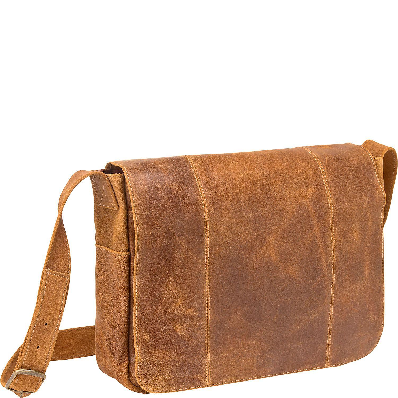Tan leather computer bag