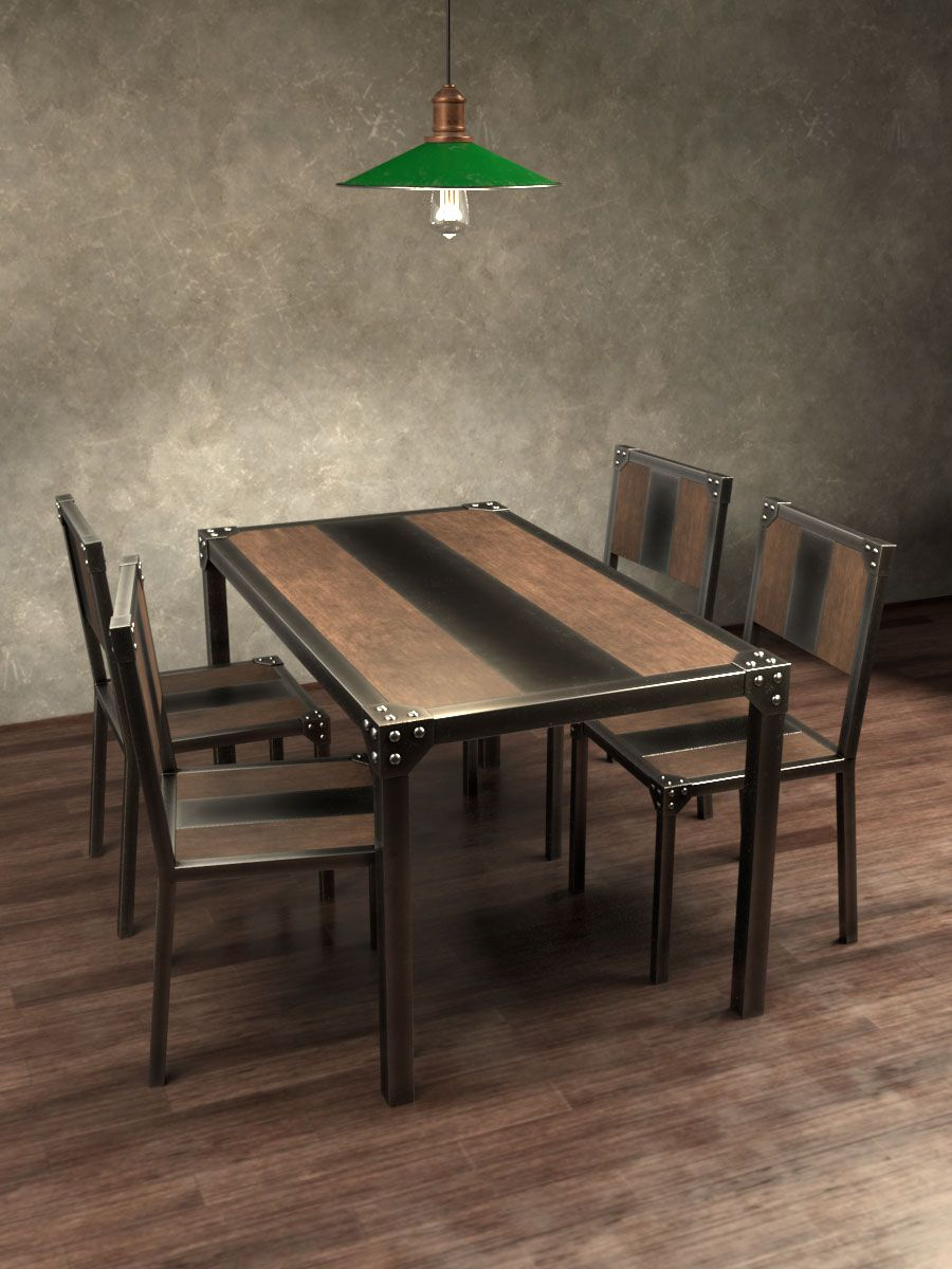 Kovesteel herreria artisticasan comedor industrial for Muebles para comedores industriales