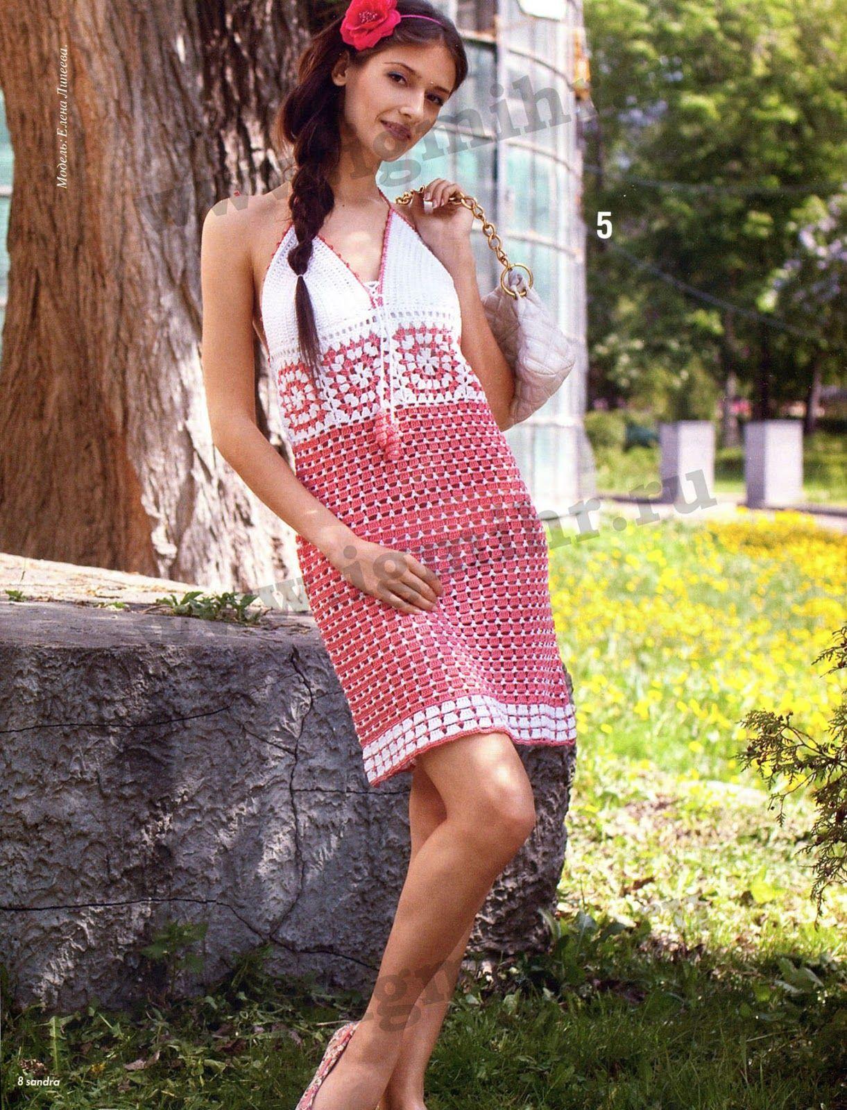 Pin de Sandra Castillo en VESTIDOS DE GANCHILLO M | Pinterest ...