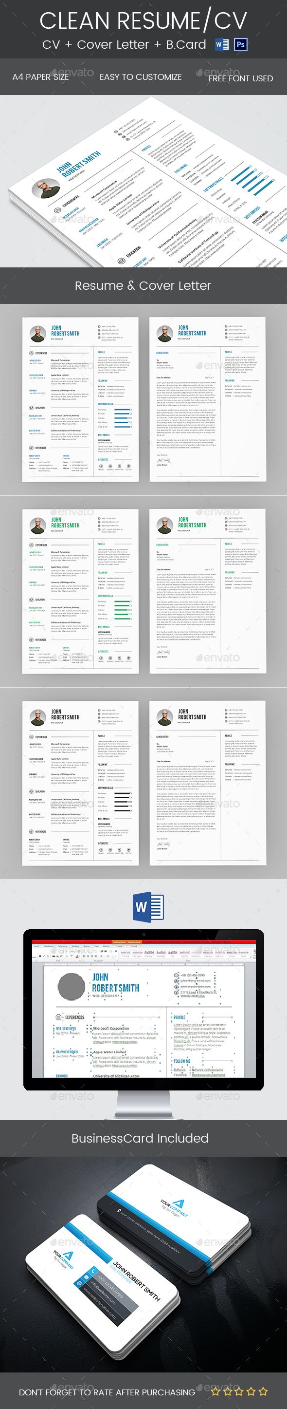 simple Clean minimal Resume u0026 Cover Letter