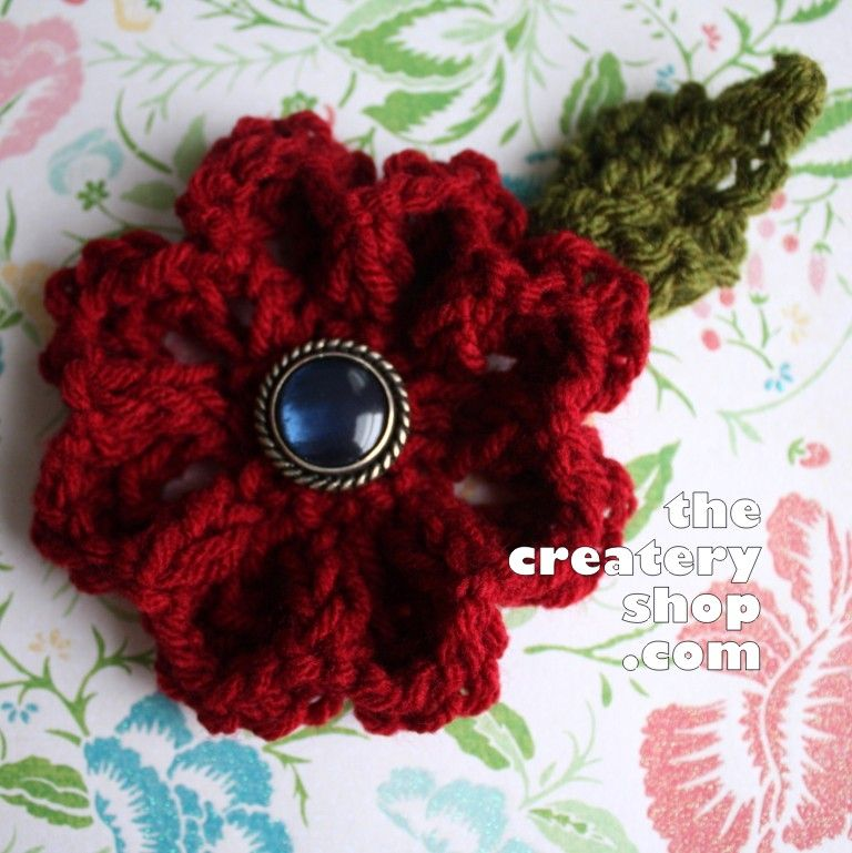 The Createry Shop Easy Elegant Flower To Knit Not Crochet Free