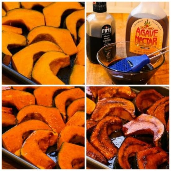 Easy Roasted Buttercup Squash With Balsamic Glaze