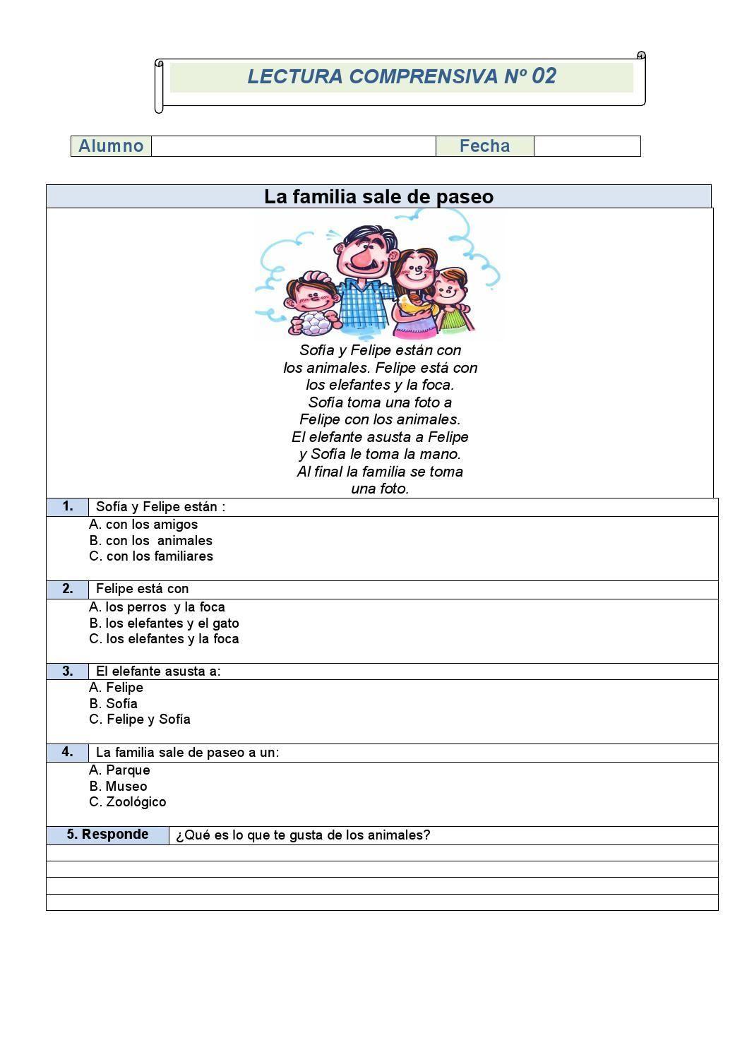 Comprensión lectora primer ciclo de primaria fichas 1 5 (1 ...