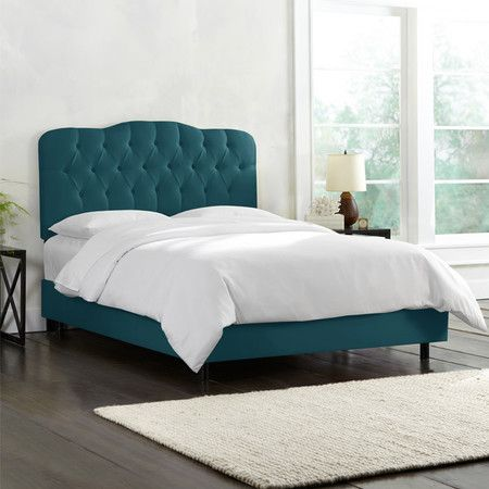 Carnaby Bed Leather Upholstered Bed Velvet Upholstered Bed