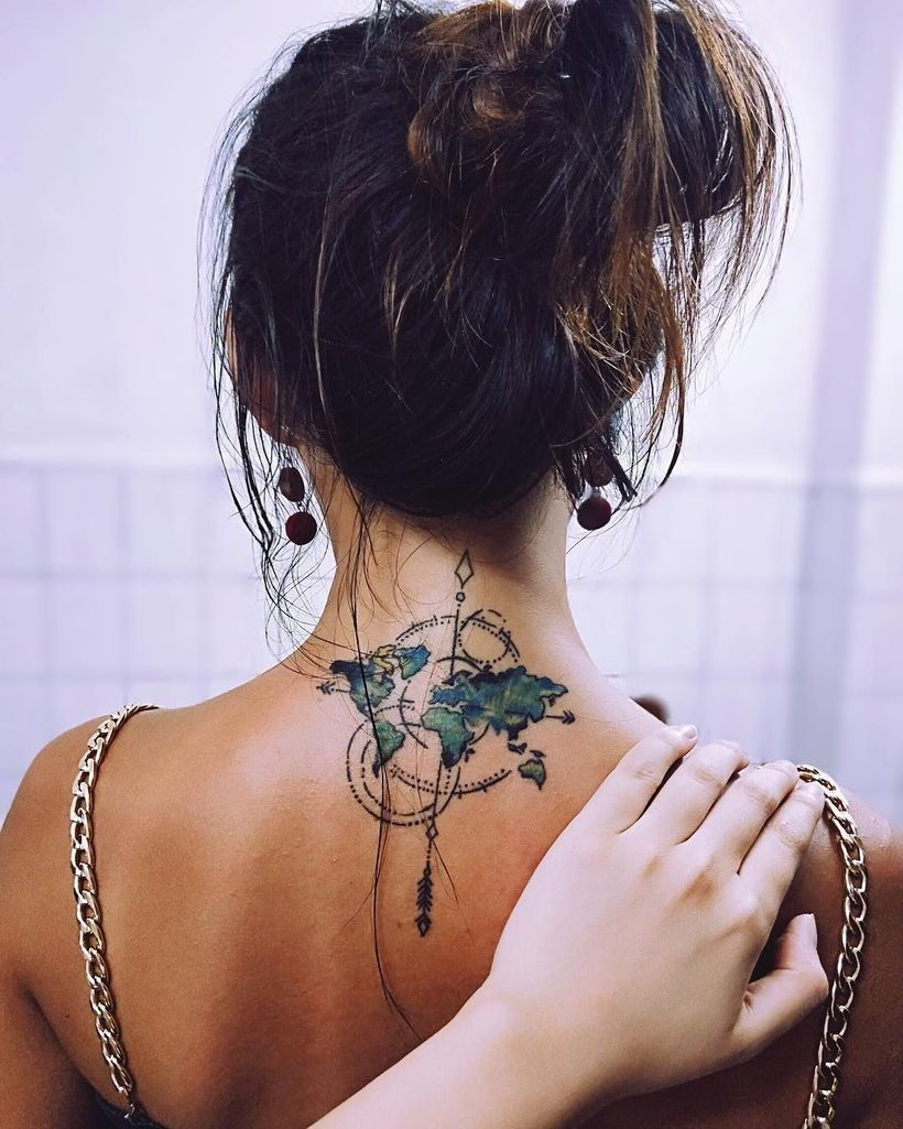Photo of 49 Fascinating women's style ideas with a beautiful spine tattoo -…
