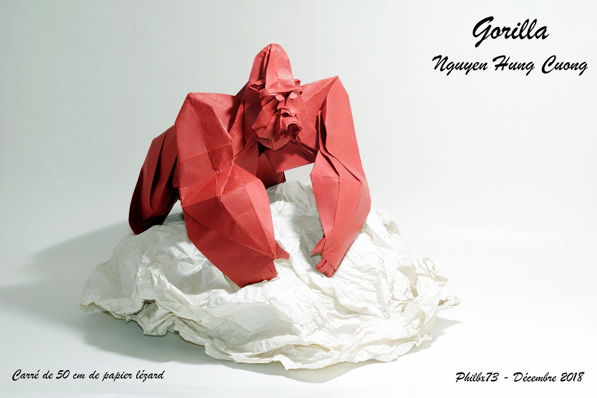 Gorilla De Nguyen Hung Cuong Nguyen Hung Origami Hanging