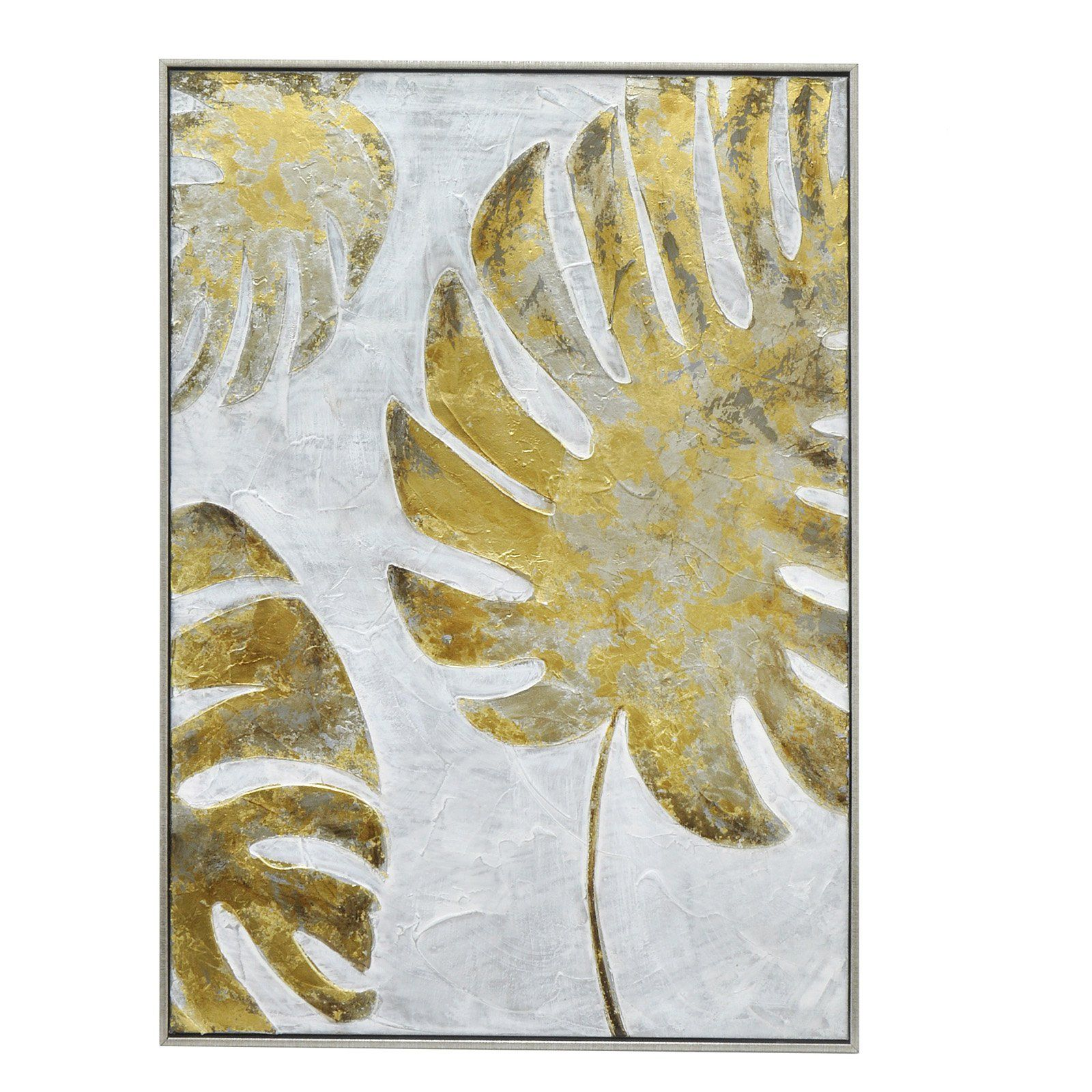 Three Hands Tropical Palm Frond Oil Painting Wall Art | from ...