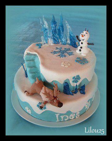 gâteau reine des neiges | gâteaux enfants | pinterest
