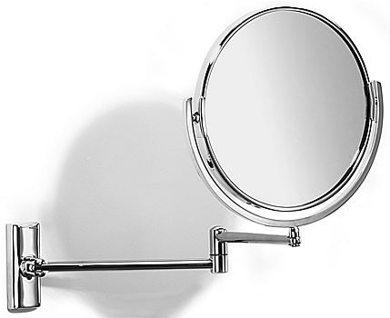 Samuel Heath Novis Pivoting Double-Arm Reversible 5x Wall Makeup Mirrors | seattleluxe.com