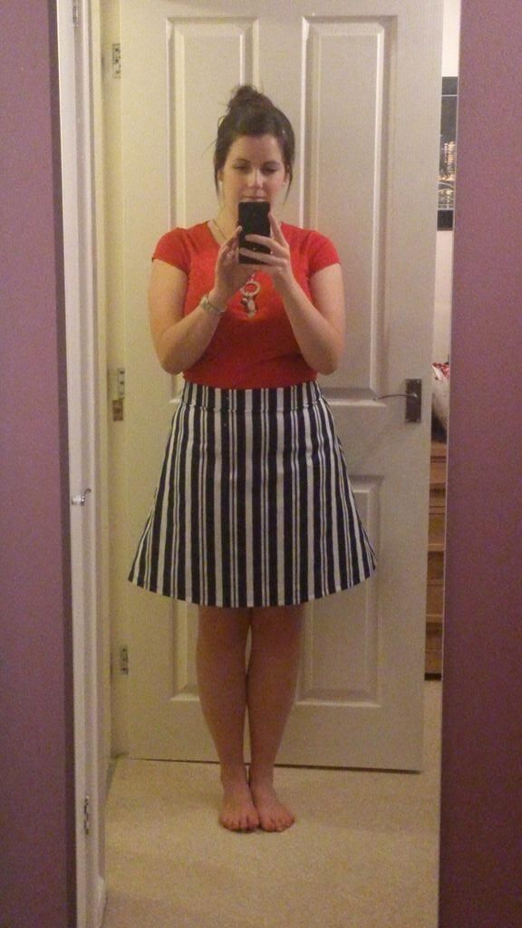 Nautical Delphine skirt sewn by @MrsCravenSmith #LoveAtFirstStitch