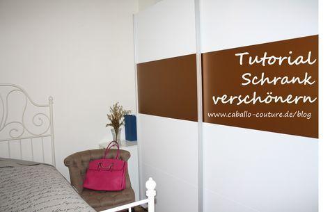 Schrank verschönern  Schrank verschönern; Caballo Couture; Upcycling; Umzug; Möbel ...