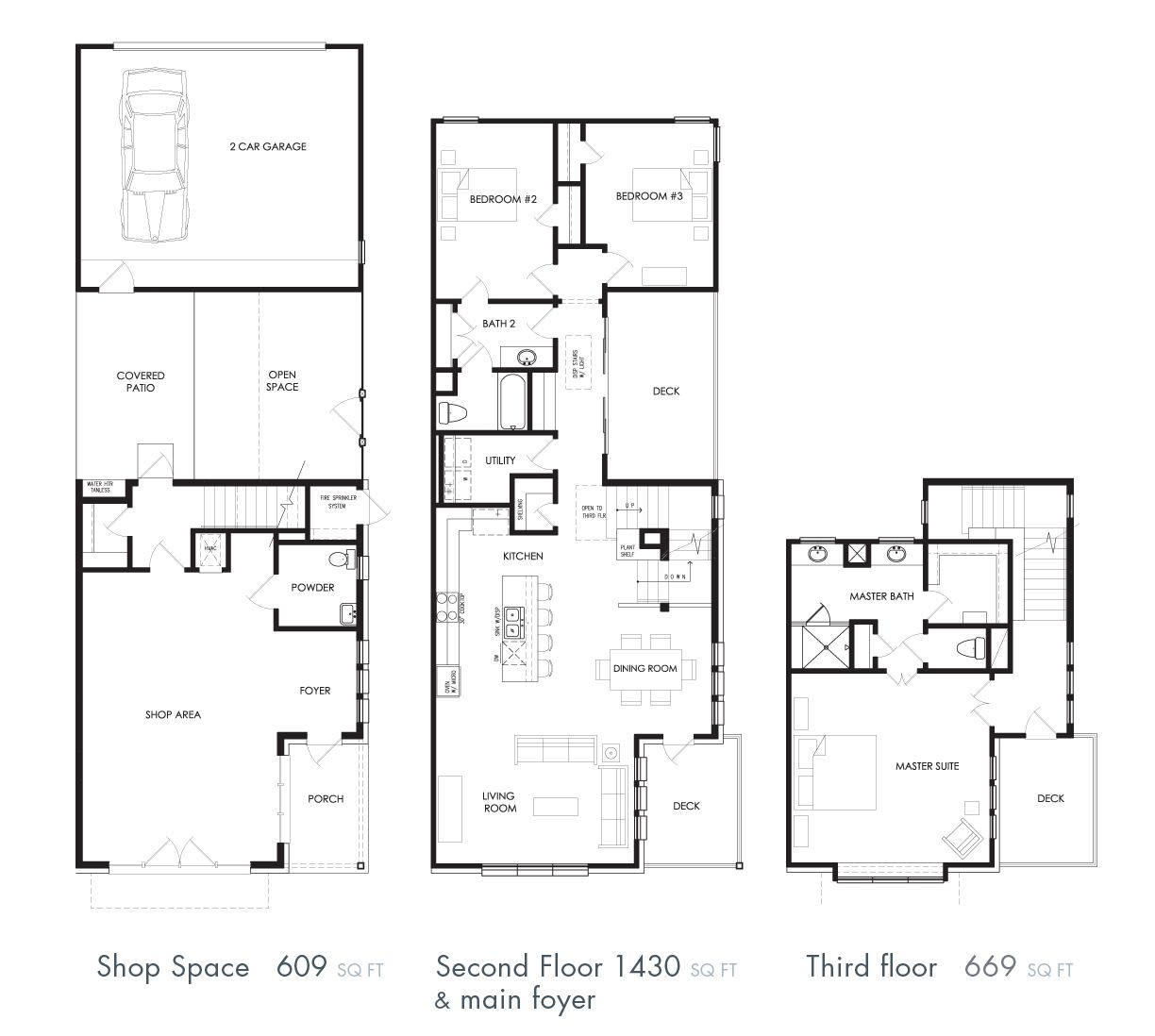 shop house floor plan i love this