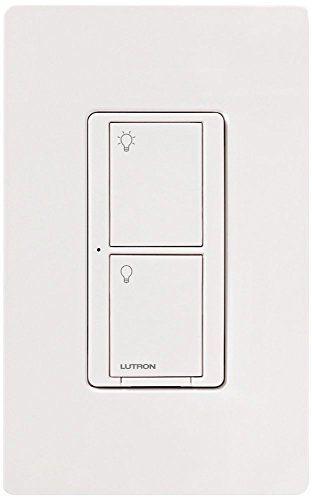 Lutron PD-5WS-DV-WH Light Switch, Caseta Wireless 5A