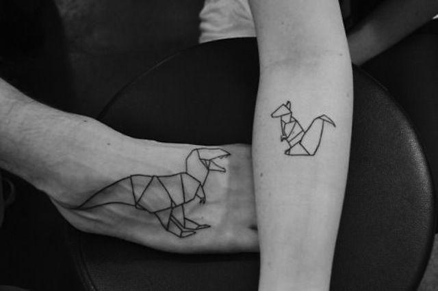 origami,tatouage,2