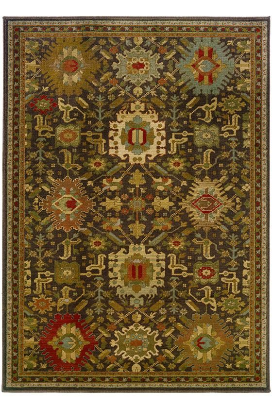 Rno Area Rug Brown Rugs Persian Synthetic