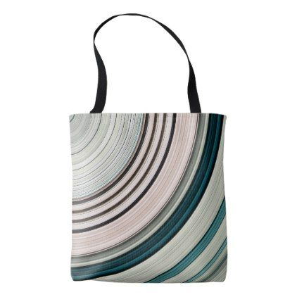 Abstract Green Rings Tote Bag - pattern sample design template diy cyo customize