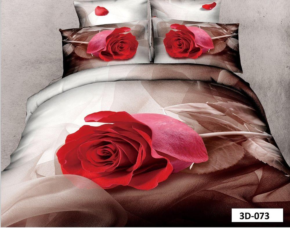 3d Fotodruck Bettwasche 4 Teilig Garnitur Set Baumwolle Satin