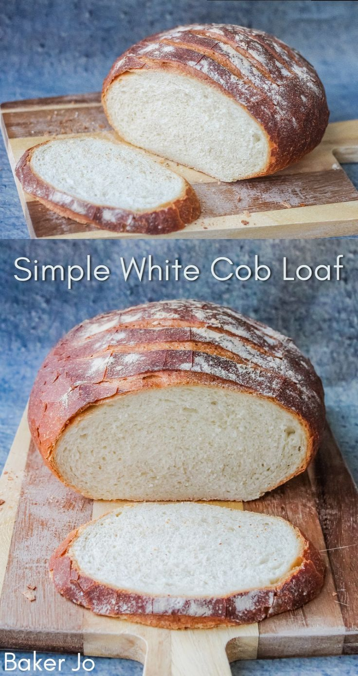 Simple White Cob Loaf - Baker Jo Easy Simple Loaf Perfect For Beginners