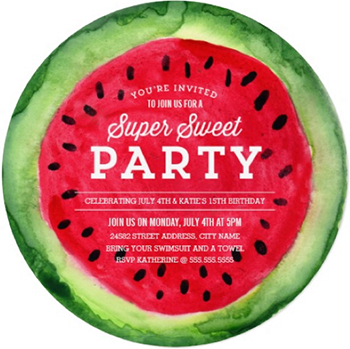 watercolor watermelon slice perfect for any summer cookout party on