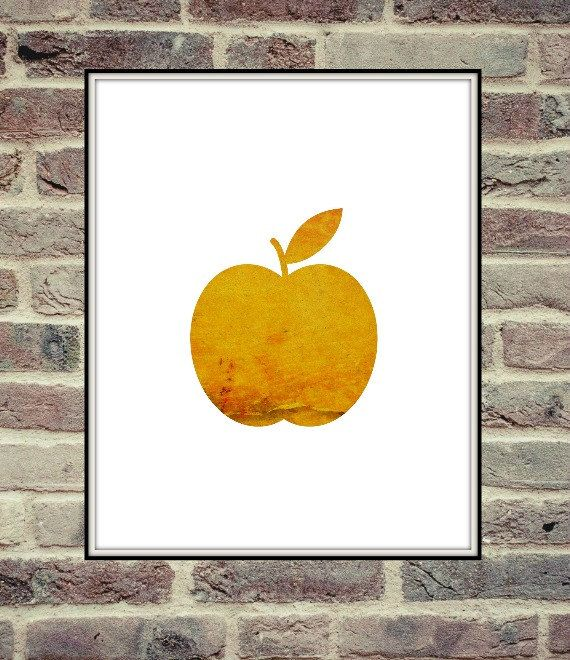 Yellow Apple Autumn Fall Autumn Wall Art by MinimalistChicStyle ...