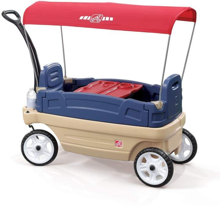 Step2 Whisper Ride Touring Wagon With Canopy Kids Wagon Toy