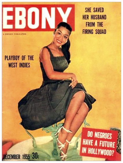 Vintage ebony magazine covers