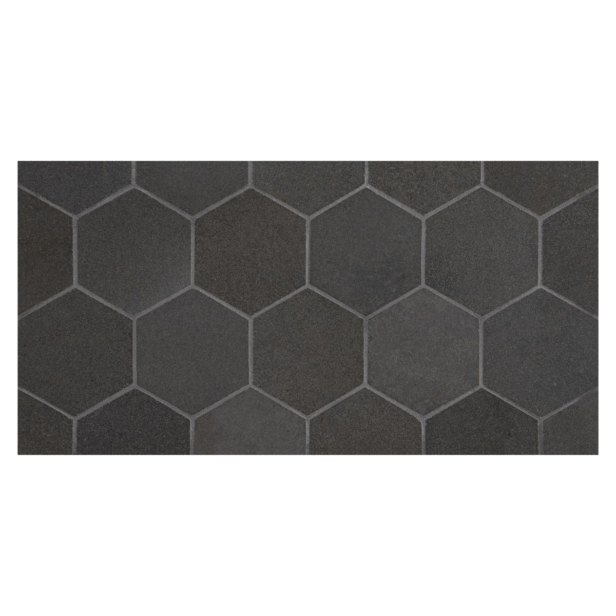 Complete Tile Collection Natural Stone Deep Basalt Mosaic Tile Hexagon Honey 2 1 4 Micro Joint Mosaic Mi 001 S2 401 111 Col Basalt Mosaic Mosaic Patterns