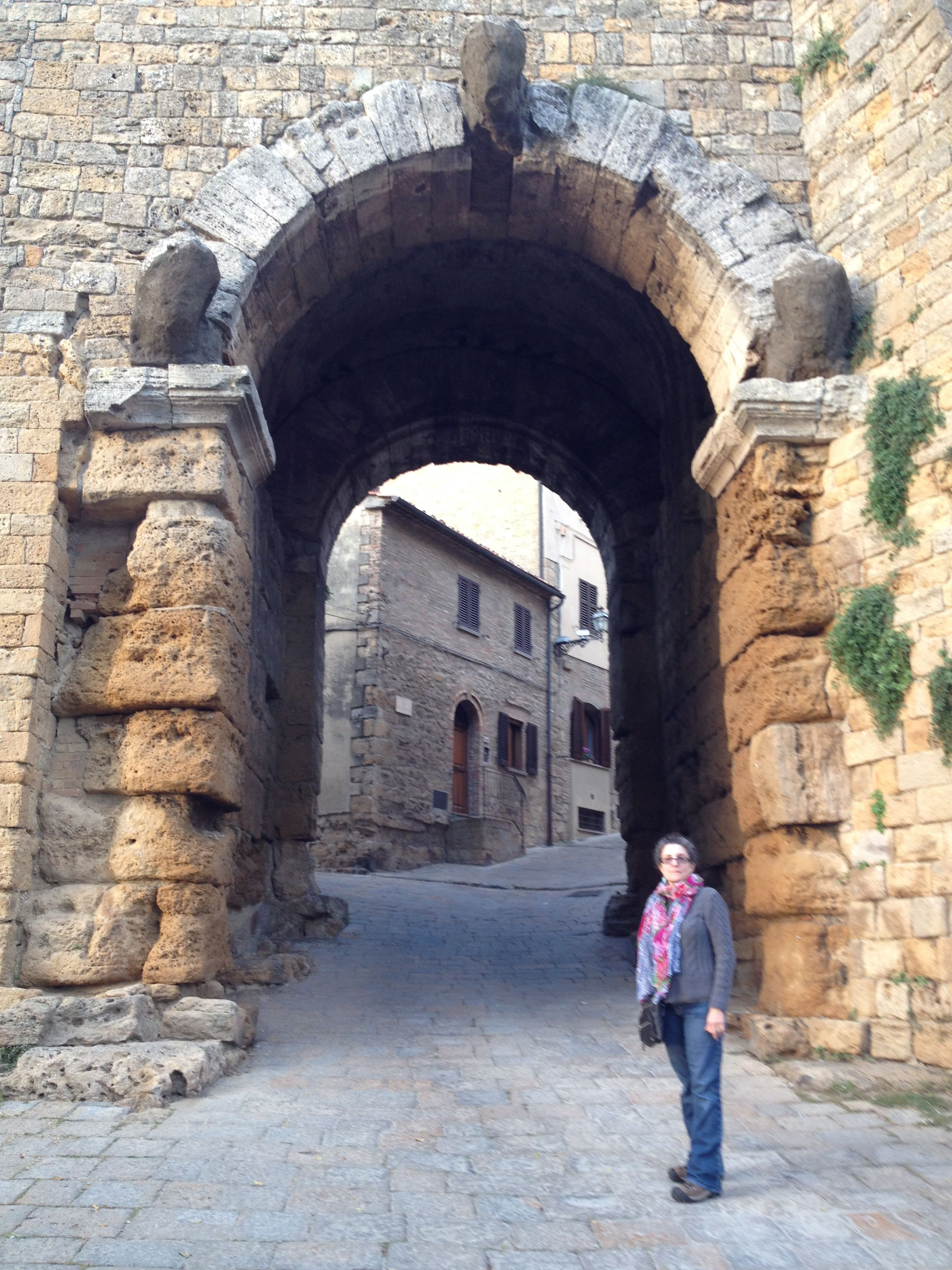 Volterra, the ancient arch.