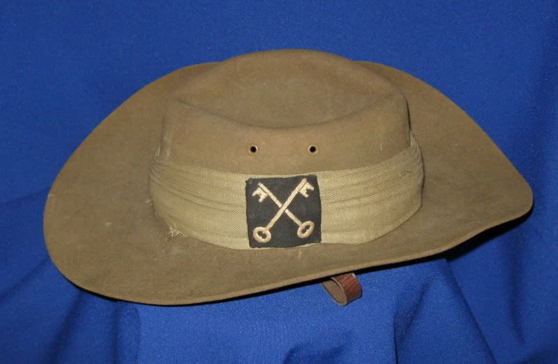 Vintage Wwii British Army 2nd Infantry S E A C Jungle Bush Hat Cross Keys Patch Slouch Hat Hats Militaria