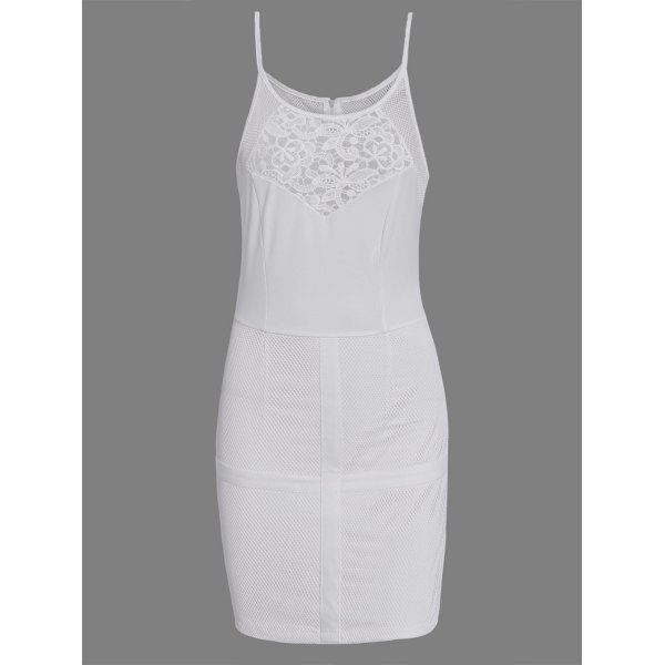 11.85$  Buy now - http://dioyl.justgood.pw/go.php?t=125455501 - Hollow Out Bodycon Dress With Lace Insert