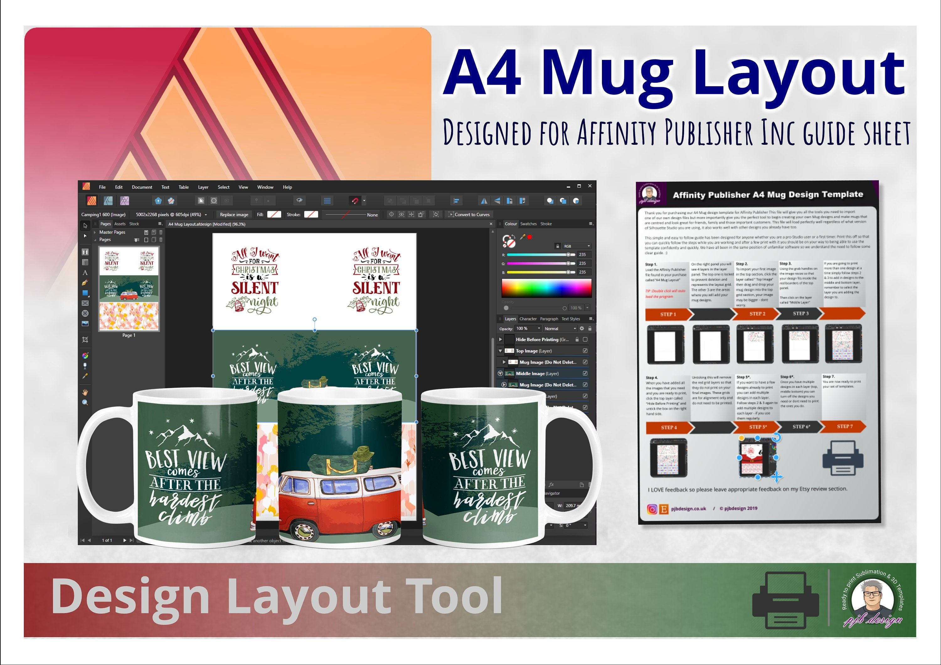 Affinity Publisher Design Template Layout Tool Perfect Layout Etsy Mug Designs Design Template Publishing Design