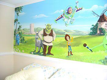 Room · Shrek Toy Story Mural Part 26