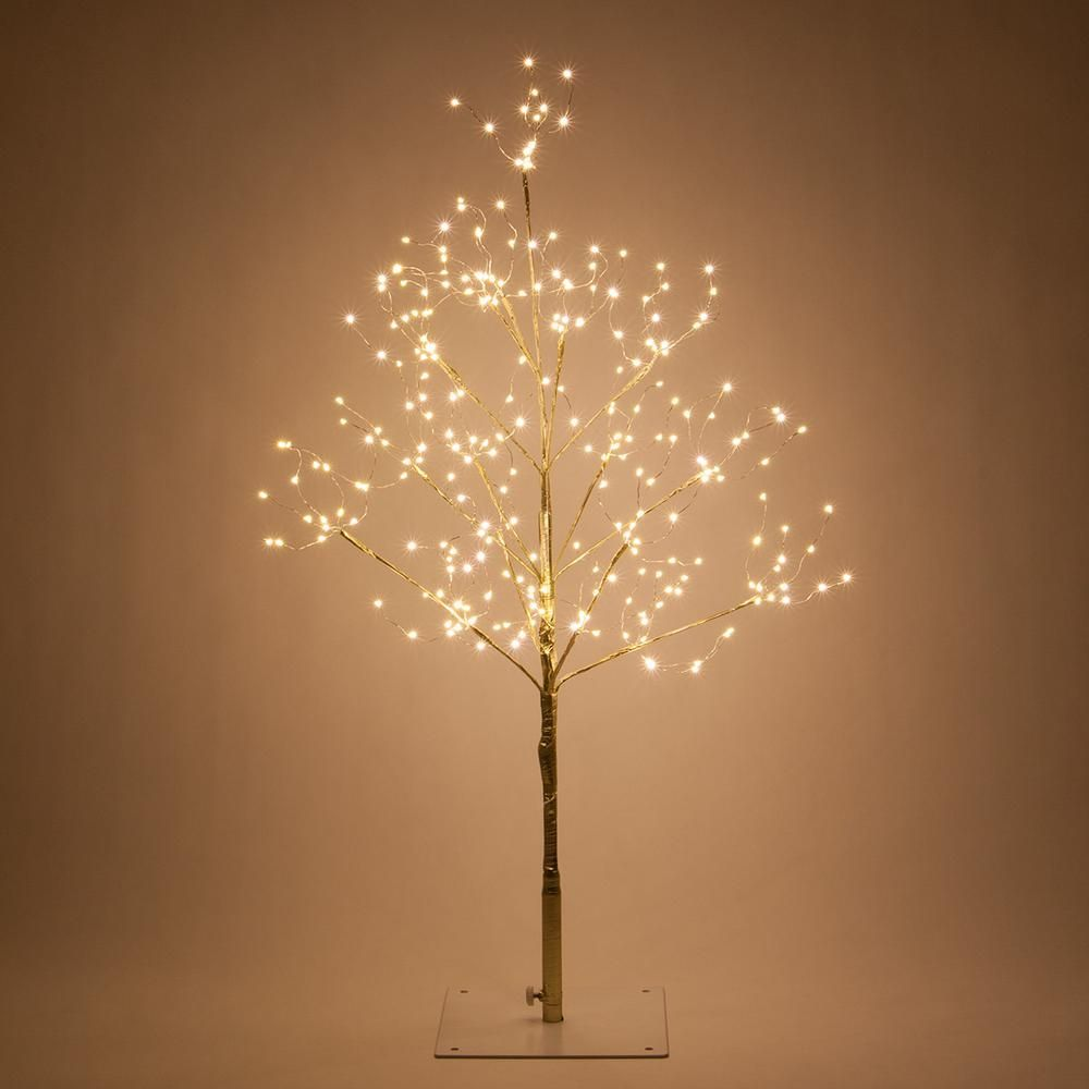 Wintergreen Lighting 3 Ft Gold Lighted Twig Tree With 270 Warm White Led Fairy Lights 78615 With Images Fairy Lights In Trees Led Fairy Lights Led Tree