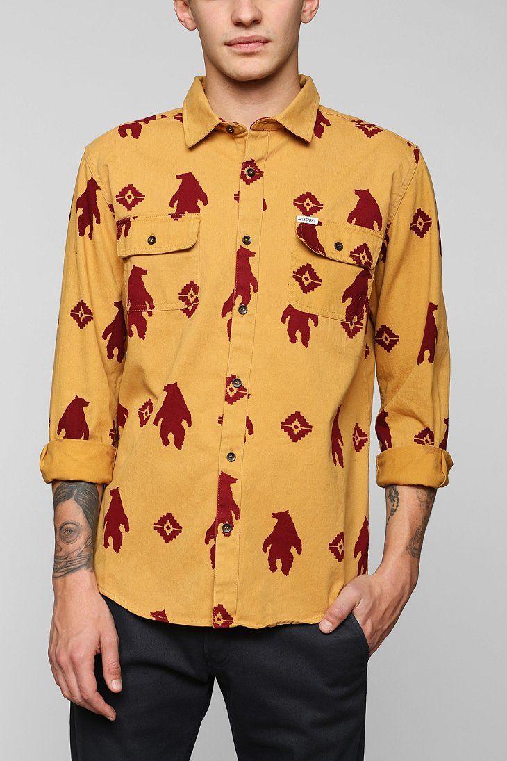 Yellow flannel outfits  Insight Bear ButtonDown Flannel Shirt  Fashion  Pinterest