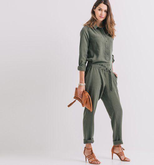 8ce780fdbbd36d Combinaison pantalon Femme kaki - Promod | Casual style en 2019 ...