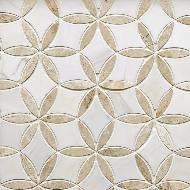 Marseille Crema Royal Dolomite Waterjet Mosaic In 2020 Stone