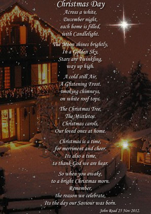Christmas Day Holiday Poems Holiday Poems December Poems Poems