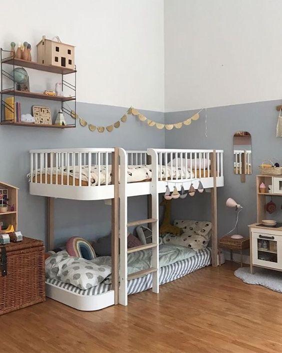 Inspiration für Zweikinderzimmer. | Deco chambre enfant ...