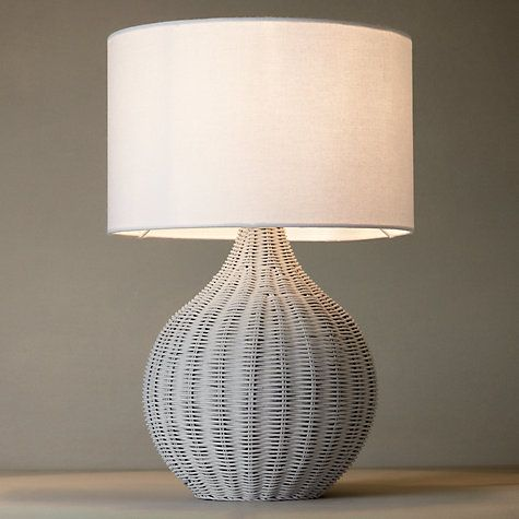 John Lewis Barnaby Grey Wicker Table Lamp | Wicker table ...