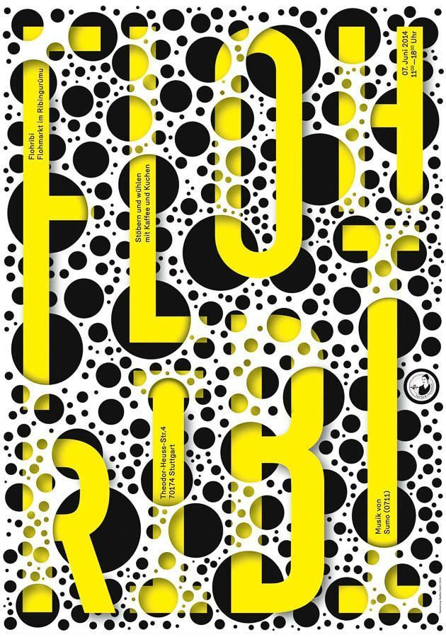 Flohribi Poster | Graphic Design | Pinterest | Graphics, Typography ...