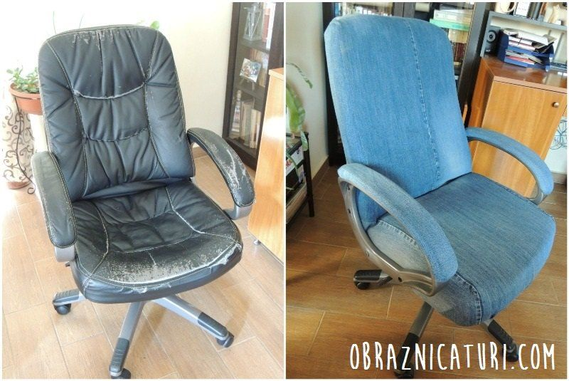 Fancy Makeover Jeans Cover For An Office Chair With Images
