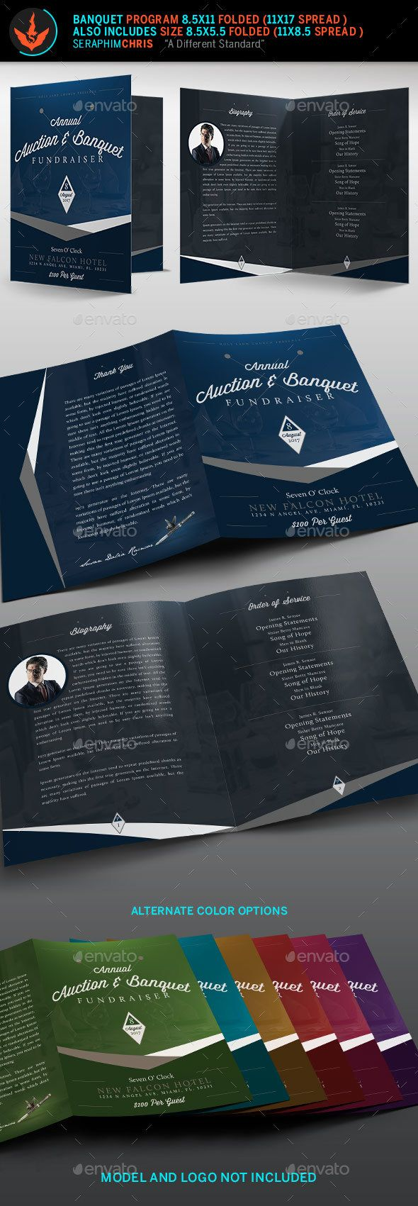 auction plus banquet church program template only available here httpgraphicriver